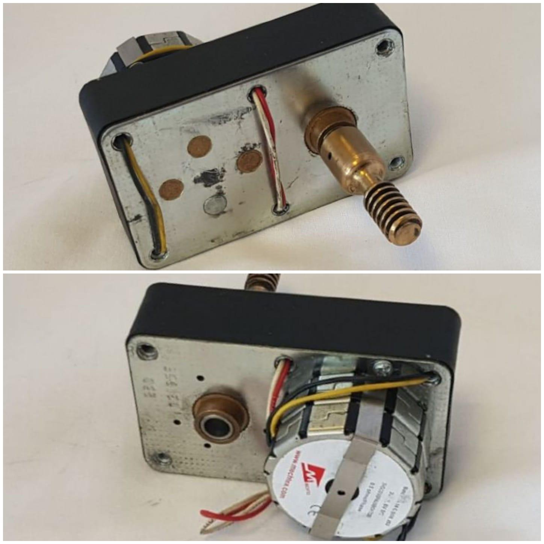 Servomotor voor gas menger